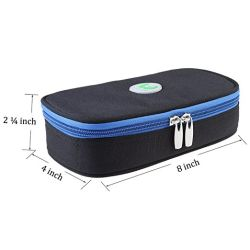 Travel Cooler Bag Insulin Cooling Case with 2 Ice Packs