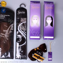 Sun Nature Economical Hair Weave Packaging with PVC Window