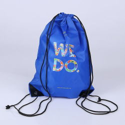 9629f337ae4 Wholesale Promotional Custom Logo Print 210d Polyester Drawstring Bag