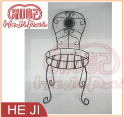 Wire Made Planter Stand/Flower Pot Stand with Flower Decorated