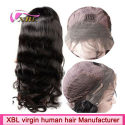 Xbl Factory Direct Sale Unpocessed Natural Color Human Hair Wig