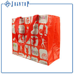 Strong Materials Reusable Cheap Custom Printed Logo PP Woven Bag