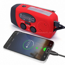 Wholesale High Quality Portable Solar Hand Crank Flashlight Am FM Noaa Radio
