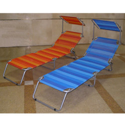Steel Pipe Beach Lounge Chair with Sunshade Canopy  sc 1 st  Made-in-China.com & China Beach Canopy Chair Beach Canopy Chair Manufacturers ...