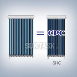 CPC Heat Pipe Solar Collector (SHC) with Solar Keymark, En12975