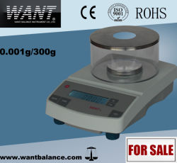 Load Cell Lab Scale with Multi-Point Calibration (300g/0.001g)