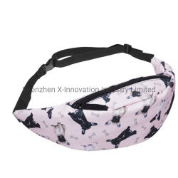 Promotional Printed Design Colorful Polyester Fanny Pack Sports Belt Waist Bag