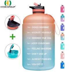 2020 Hot Sale BPA Free 1 Gallon/128oz PETG Plastic Sport Water Bottle with Straw (HDP-3209)
