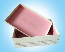 Logo Stamped Rigid Custom Shoe Box Wholesale