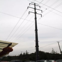 Concessional Rate Galvanized Steel Tube Hight Mast Power Transmission Pole