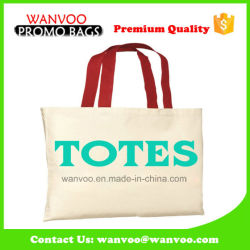Shoulder Promotional Ping Canvas Cotton Tote Bag For Beach