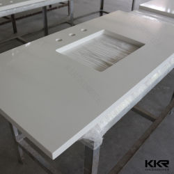 Cutomized Corian White Solid Surface Kitchen Countertop