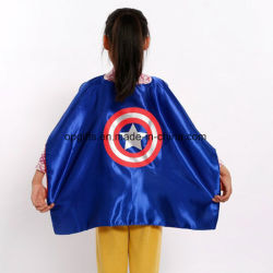 Polyester Satin Cape OEM Superhero Capes in Double Layer