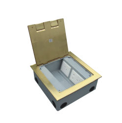 Brass Alloy Material Electrical Socket Floor Boxes