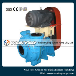 Rubber Lined Heavy Duty Mineral Processing Slurry Pump with Motor