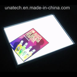 Indoor Advertising Paper Backlit Film Media Acrylic Aluminium Snap Slim LED Side Light Box