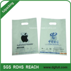 100% Virgin HDPE Plastic Customed Handle Bag, Promotional Brand Poly Gift Bags