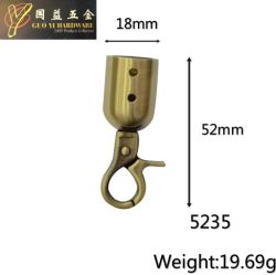Large Hanging Bell with Automatic Buckle, Perforated, Bronze Color (5235)