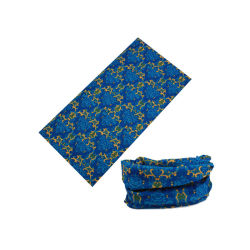 Popular Magic Multi Use Printed Seamless Black Headwear Sport Bandana (YH-HS576)