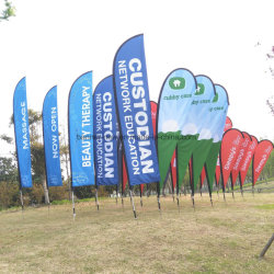 Wholesale Feather Teardrop Beach Flag with Aluminum Pole Thickness 1.2mm