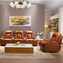 Multi Functional Sectional Home Theater Chair With Cup Holder