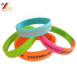 Promotion Gift Silicone Bracelet / Rubber Band /Silicone Wristband for Decoration Silicone Product (YB-SW-36)