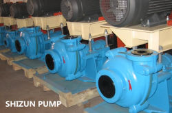 High Efficiency Horizontal Centrifugal Slurry Pump with Metal Liner