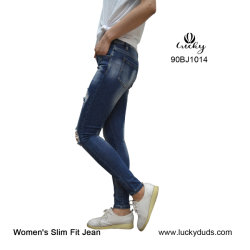 Bulk Wholesale New Model Scratch Damage Jeans Pants Women