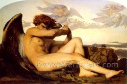 Handmade Women Body Nude Girl Painting Ebf-028