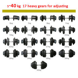 Selectable Weight Adjustable Dumbbell Set Home Sports Gym Fitness