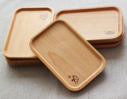 Kitchen Utensils Japanese Wooden Dessert Bread Tray