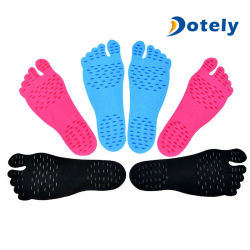 Unisex Beach Invisible Stick-up Foot Insole Waterproof Protective Socks Foot Pad