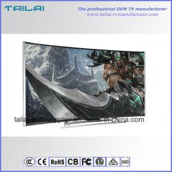 "Super Slim Narrow Bezel 55 "" 4K Aluminium Alloy Small MOQ Curved TV LED"