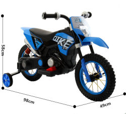 Kids Electric 6V Motorbike Scrambler Dirt Bike Motorbike Ride on Motocross
