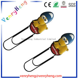 Promotional Gift Silicone Soft PVC Rubber Bookmark Paper Clip