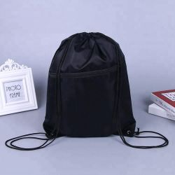 Fashion Sports Polyester Drawstring Bag