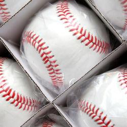 Custom Cowhide Leather 30% Wool Windings Baseball for Baseball Bat