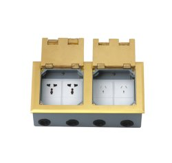 Brass Alloy Material Double Open Floor Boxes