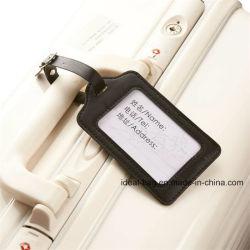 Custom Retro Crazy Horse Leather Travel Luggage Tag Promotional Wholesale