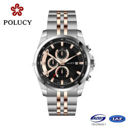 Make Custom All Stainless Steel Gold Luxury Watches Men