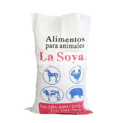 Factory Printed 10kg 25kg 50kg 100kgs Rice Sugar Flour Plastic White PP Woven Packaging Bag with Fabric Sheet