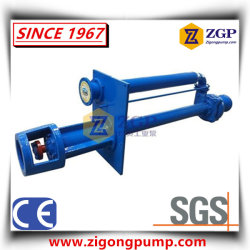 Vertical Long Shaft Semi-Submersible Sump Pit Slurry Pump with Filter and Agitator