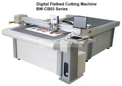 CB03 Plotting Kiss-Cut V-Cut Carton Box Rubber Cardboard Foam Flatbed CNC Sample Cutting Machine