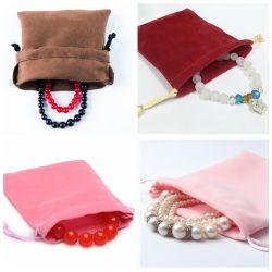 Colorful Favor Packaging Velvet Drawstring Handbags Gift Bags Jewelry Bag