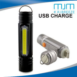 a1cbbcf5f94 USB Rechargeable LED Light Flashlight Aluminium Alloy Zoom Torch