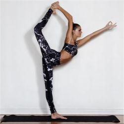 Fashion Tie-Dye Gym Wear Casual Running Fitness Black High Waist Sports Bra Yoga Sets
