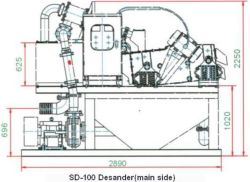 mud cleaner slurry desanding plant SD-100 desander