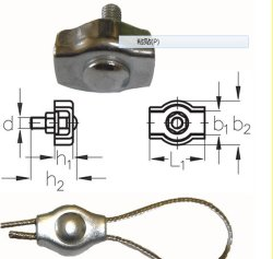 Steel Simplex Wire Rope Clip Cable Clamp Single Bolt