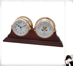 Wooden Stand Base of Clock and Barometer