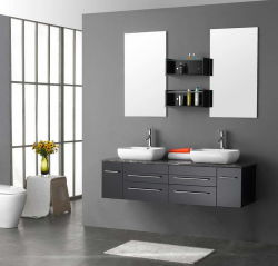 Wall Mounted Bathroom Cabinet Vanity Ware Manufacture (ZH-202)